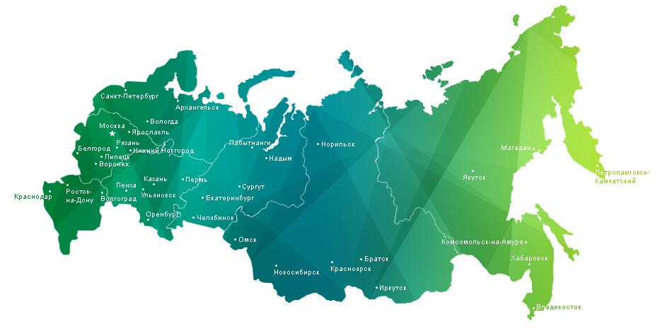 Карта доставки деталей от компании МеталлСервис